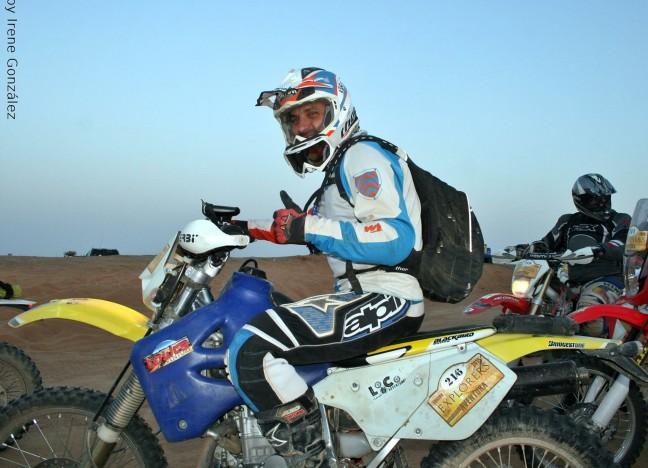 Carlitos en el desierto de Marruecos